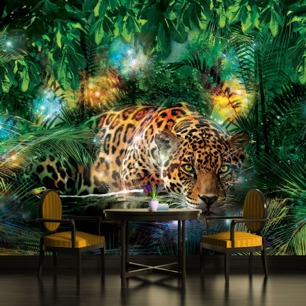 Bedroom wallpaper Leopard in The Jungle